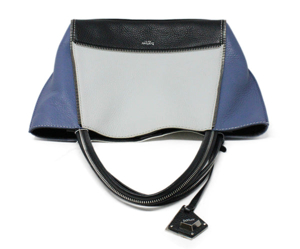 Botkier Blue White Black Color Block Leather Shoulderbag 5