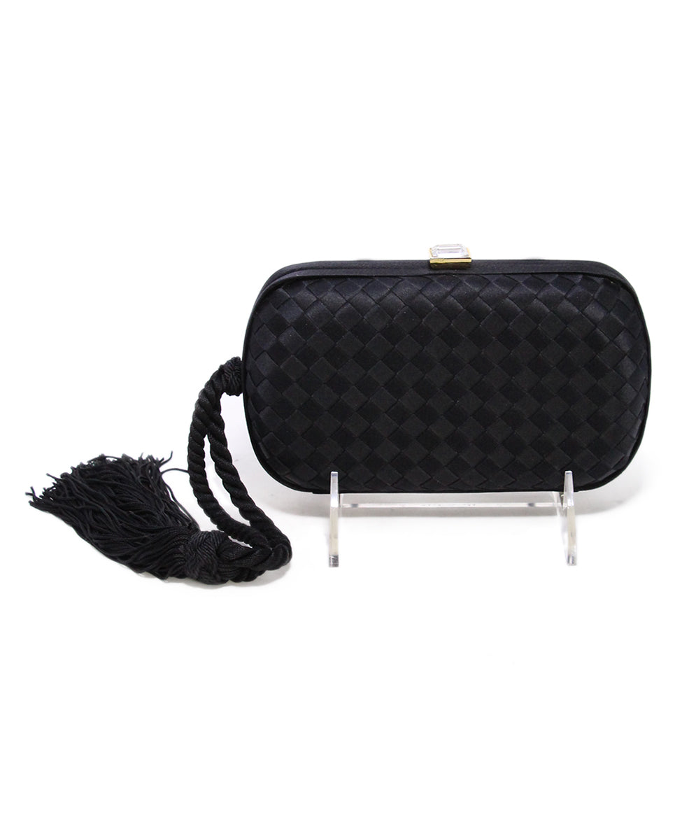Bottega Veneta Black Clutch 1