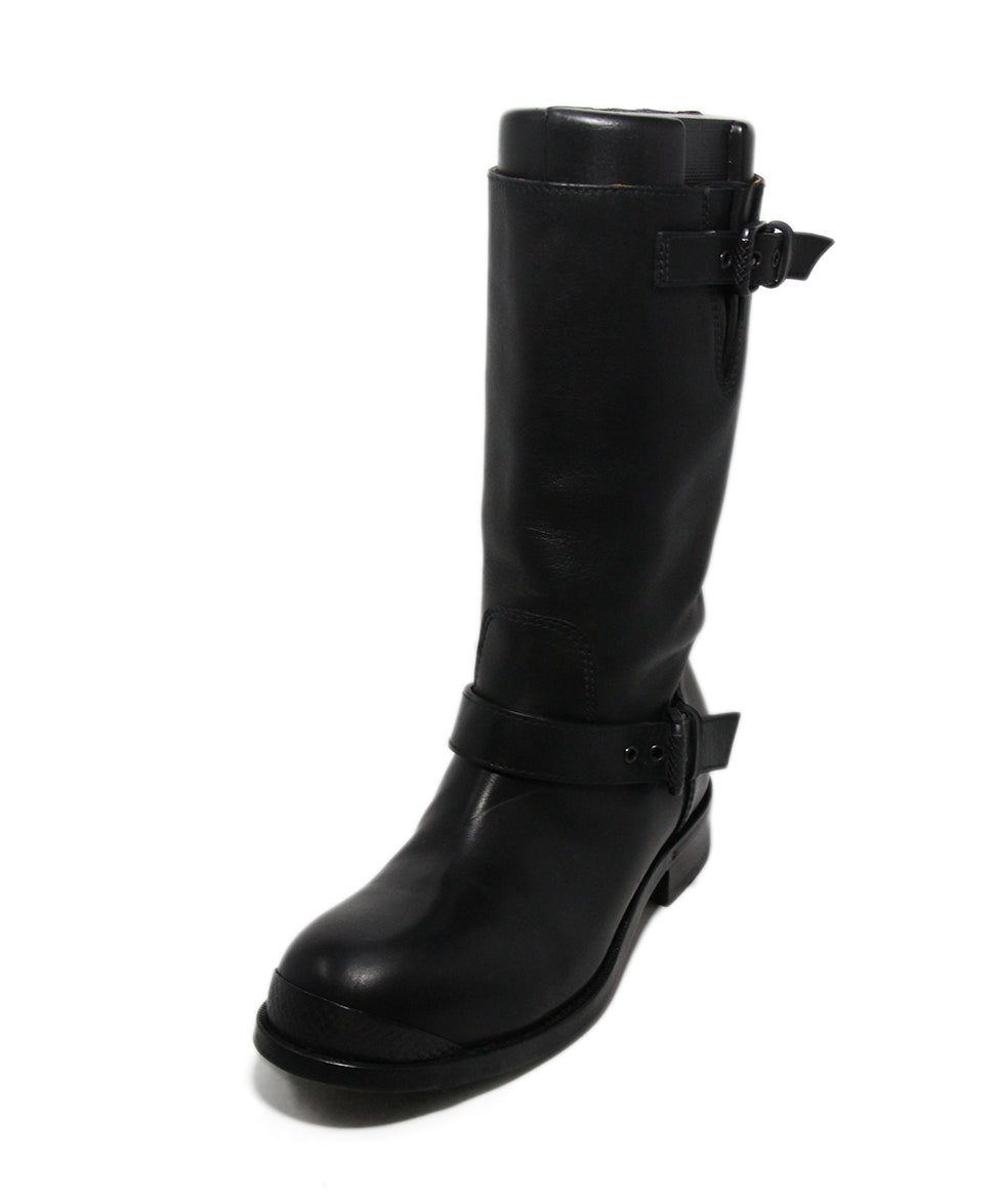 Bottega Veneta Black Leather Boots 1