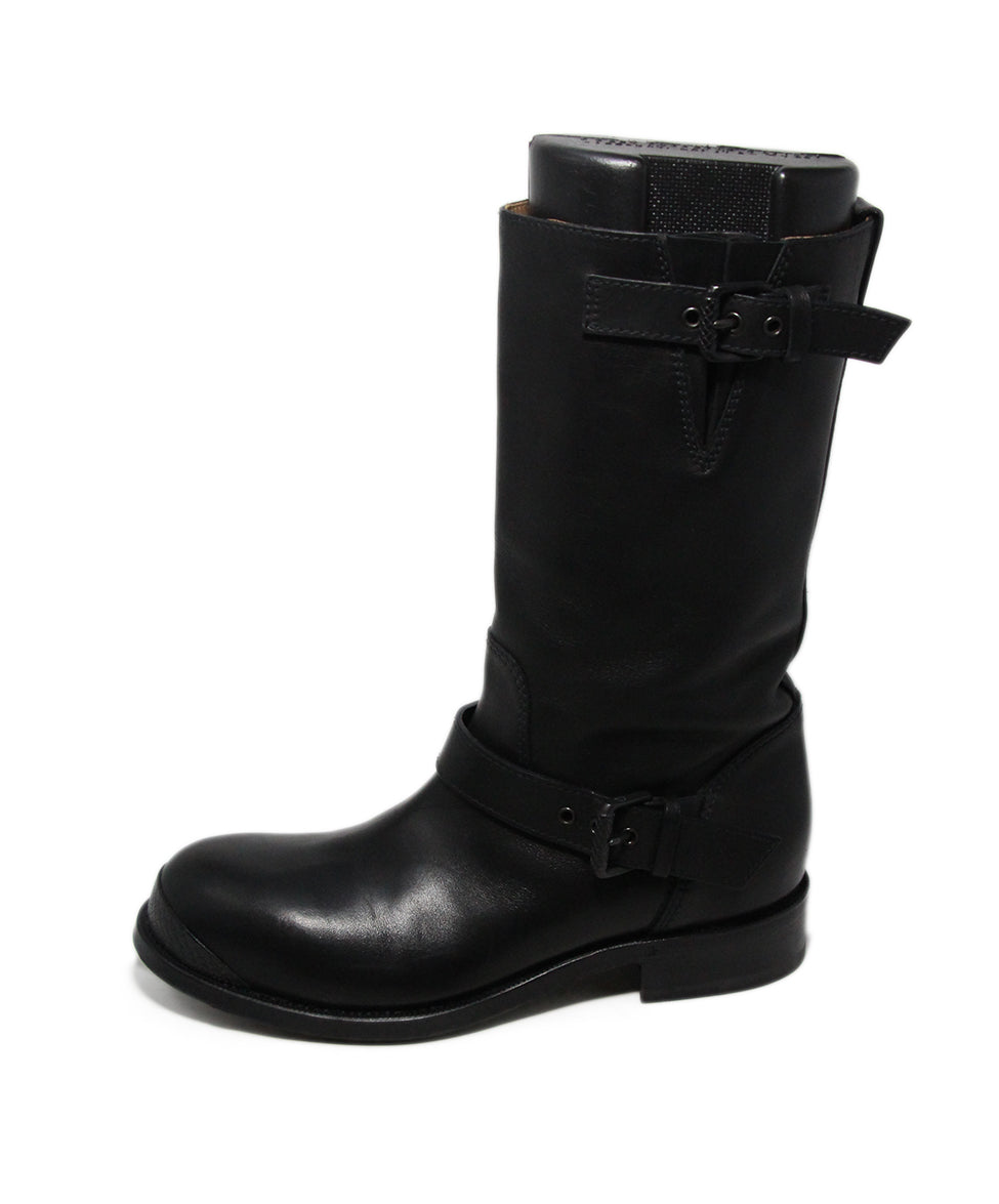 Bottega Veneta Black Leather Boots 2
