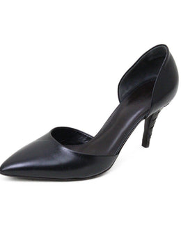 Bottega Veneta Black Leather Brown Heel Shoes