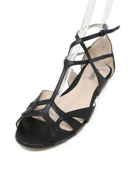 Bottega Veneta Black Leather Sandals 1
