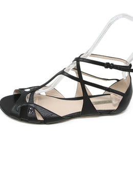 Bottega Veneta Black Leather Sandals 2