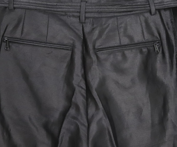 Bottega Veneta Black Rayon Cotton Pants 4