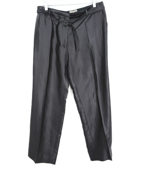 Bottega Veneta Black Rayon Cotton Pants 1