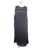 Evening Bottega Veneta Black Silk Crochette Chain Trim Dress 1