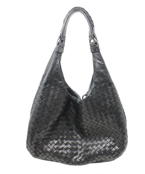 Bottega Veneta Black Woven Intreccacio Leather Hobo Bag 3