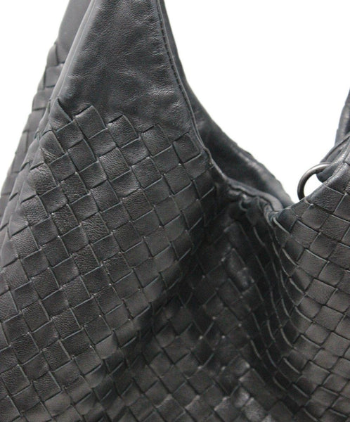 Bottega Veneta Black Woven Intreccacio Leather Hobo Bag 8