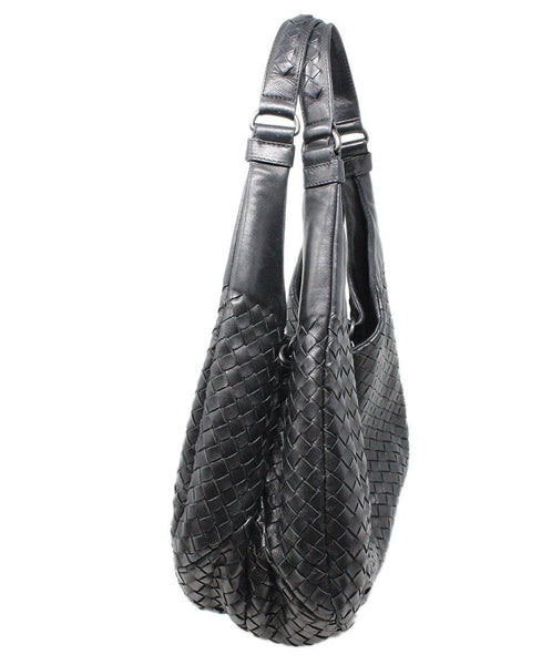 Bottega Veneta Black Woven Intreccacio Leather Hobo Bag 2