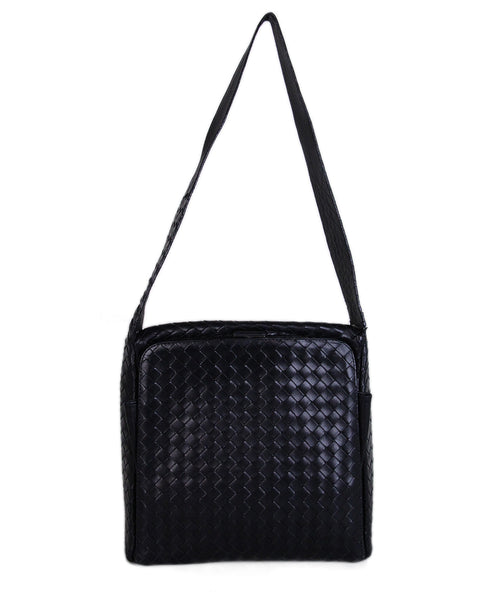 Bottega Veneta Black Woven Leather Vintage Bag 1