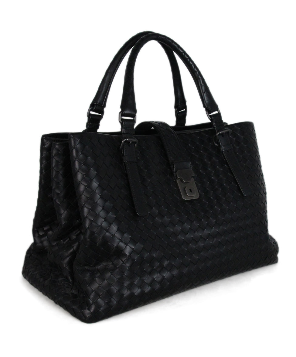 Bottega Veneta Black Woven leather Tote 2