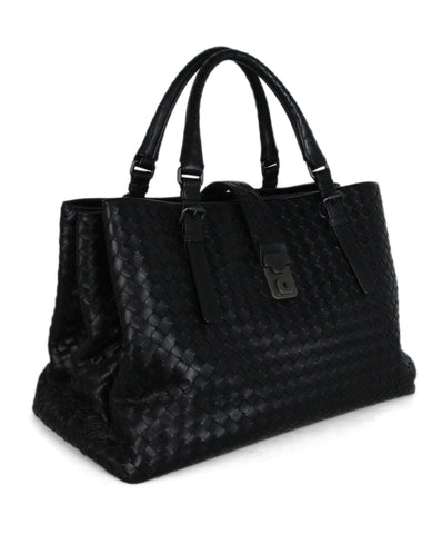 Bottega Veneta Black Woven leather Tote 1