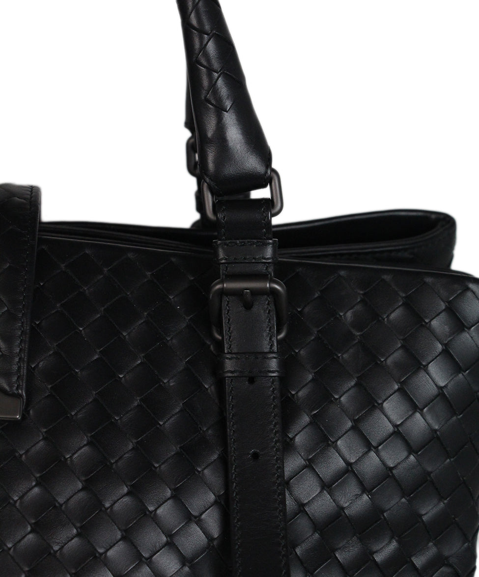 Bottega Veneta Black Woven leather Tote 8
