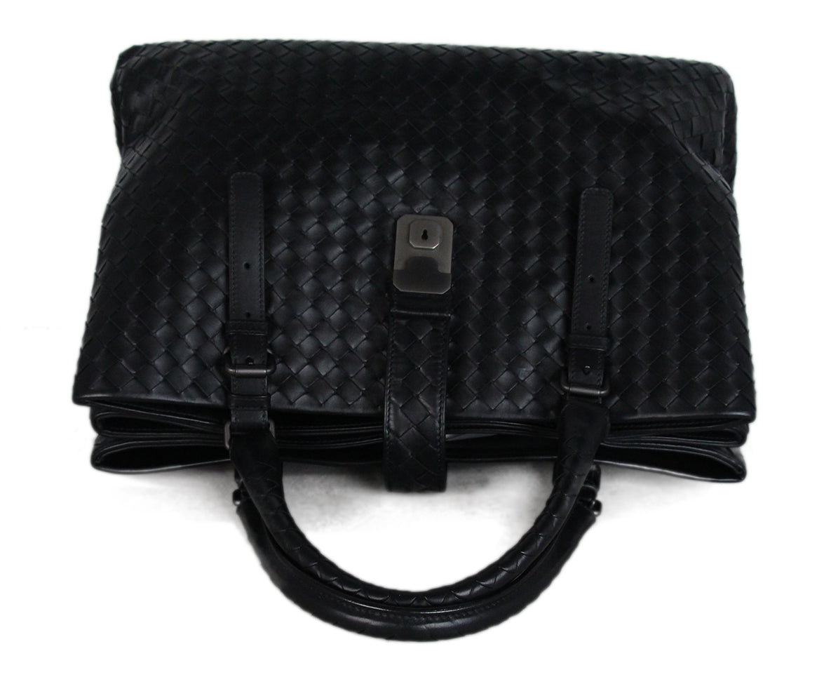 Bottega Veneta Black Woven leather Tote 5