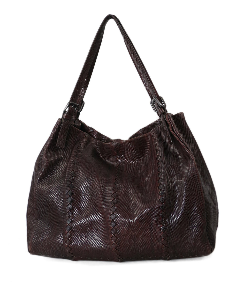 Bottega Veneta Brown Lizard Tote 1