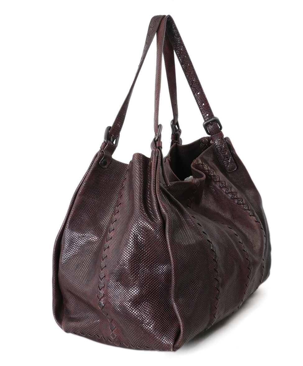 Bottega Veneta Brown Lizard Tote 2