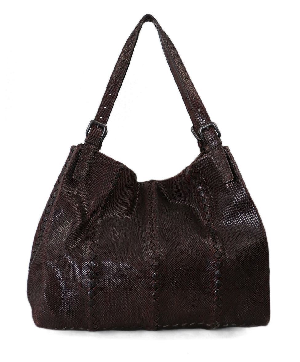 Bottega Veneta Brown Lizard Tote 3