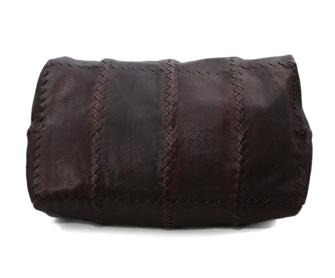 Bottega Veneta Brown Lizard Tote 4