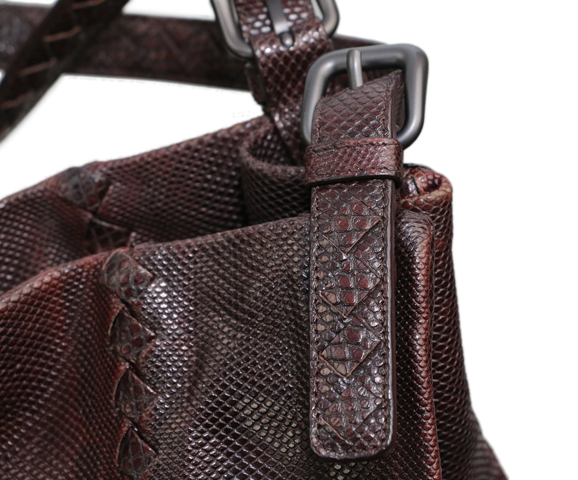 Bottega Veneta Brown Lizard Tote 5