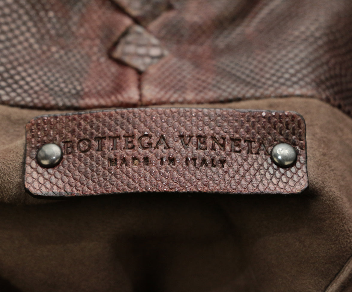 Bottega Veneta Brown Lizard Tote 6