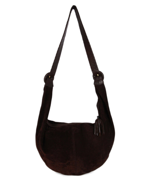 Bottega Veneta Brown Suede Leather Hobo Bag 1
