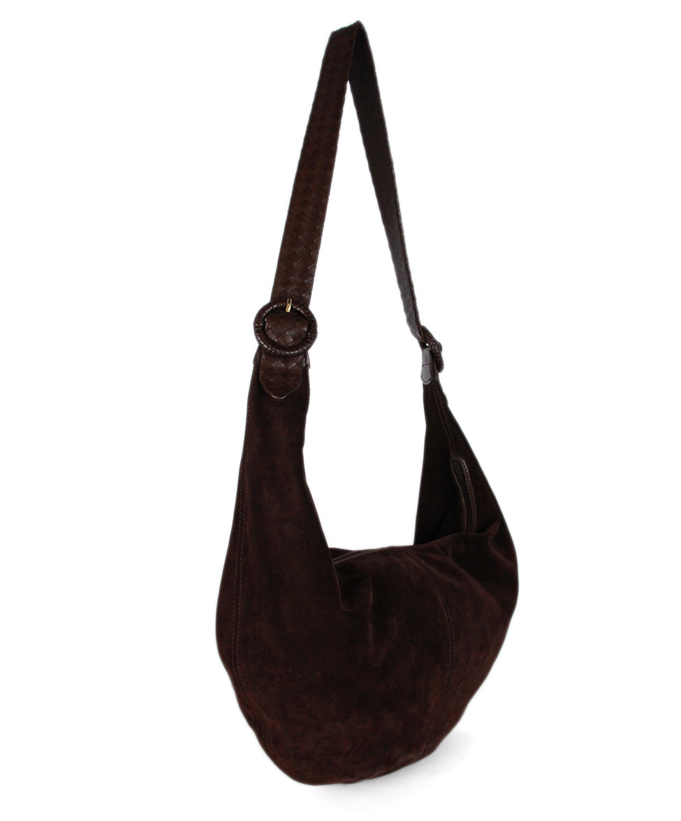 Bottega Veneta Brown Suede Leather Hobo Bag 2