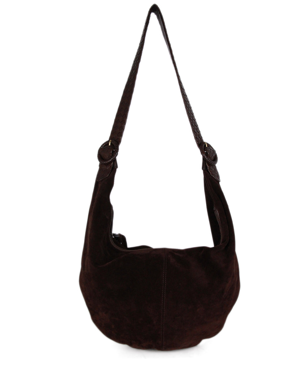 Bottega Veneta Brown Suede Leather Hobo Bag 3