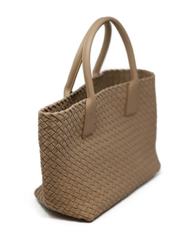 Bottega Veneta Neutral Tan Woven Leather W/Dust Bag Handbag 1