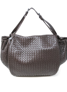 Bottega Veneta Brown Woven Leather Handbag 1