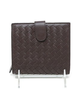 Bottega Veneta Brown Woven Leather Wallet