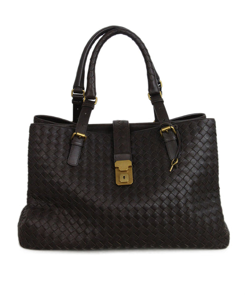 Bottega Veneta Brown Woven leather tote 1