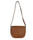 Bottega Veneta Neutral Tan Woven Leather Shoulder Bag Handbag 1