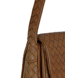 Bottega Veneta Neutral Tan Woven Leather Shoulder Bag Handbag 9