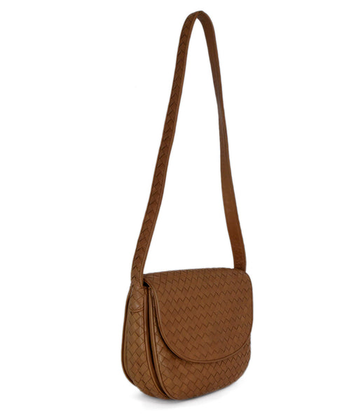 Bottega Veneta Neutral Tan Woven Leather Shoulder Bag Handbag 2