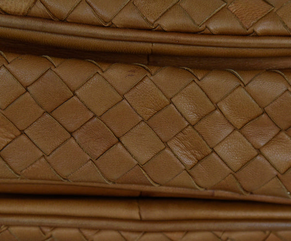 Bottega Veneta Neutral Tan Woven Leather Shoulder Bag Handbag 11