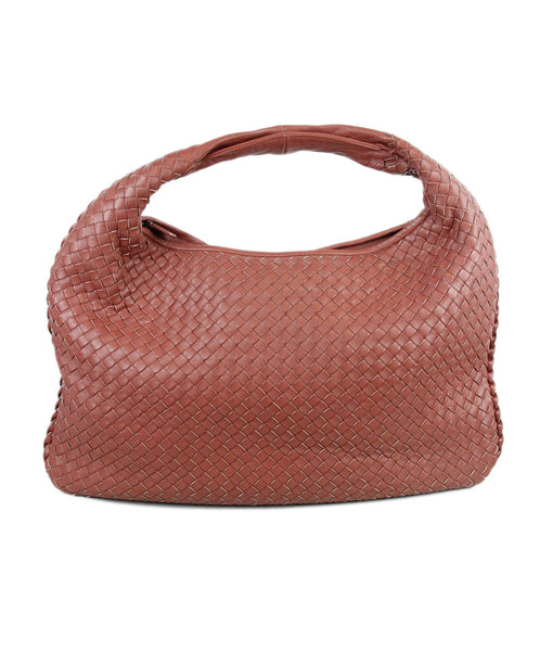 Bottega Veneta Pink Mauve Woven Leather Handbag