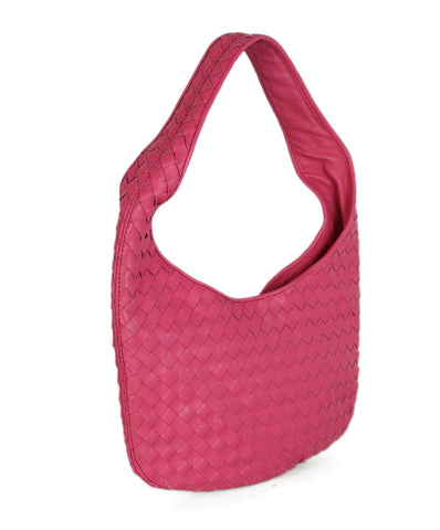 Bottega Veneta Pink Woven Leather Handbag 1