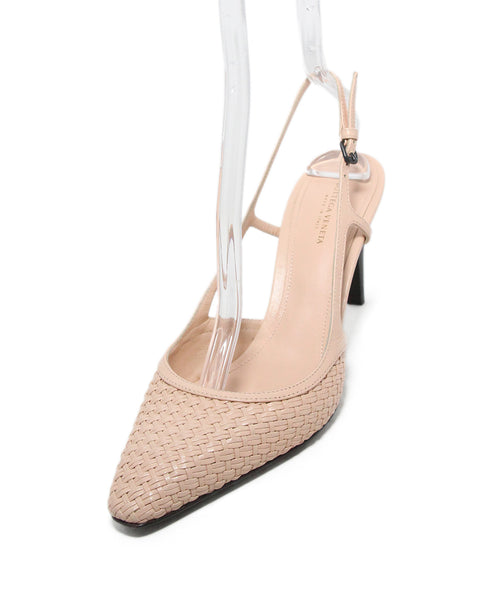 44af7c289b6de9 Bottega Veneta Heels US 9 Pink Woven Leather Sling Backs Shoes - Michael s  Consignment NYC