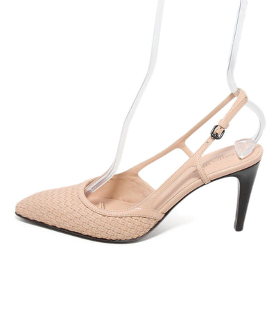 Bottega Veneta Pink Woven Leather Heels 1