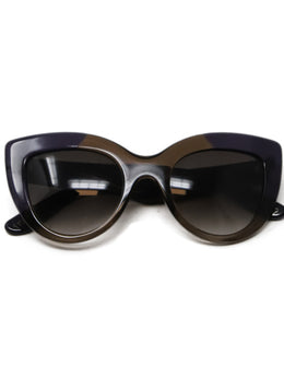 Bottega Veneta Purple and Brown Plastic Sunglasses 1