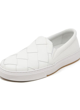Bottega Veneta White Leather Sneakers 1