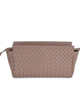 Cosmetic Cs Bottega Veneta Mauve Woven Leather Leather Goods 1