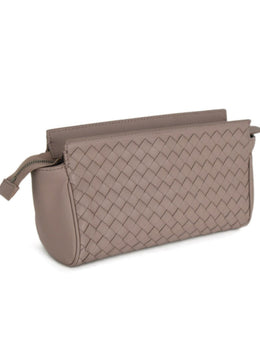 Cosmetic Cs Bottega Veneta Mauve Woven Leather Leather Goods 2