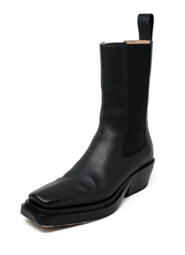 Bottega Veneta Black Leather Boots Sz 38.5