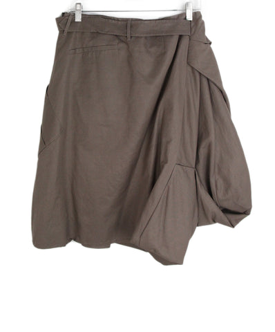 Bottega Veneta brown cotton skirt 1