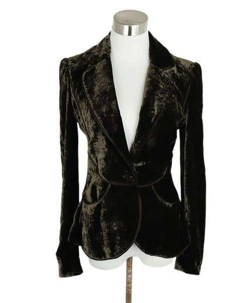 Bottega Veneta Brown Velvet Blazer Jacket 1