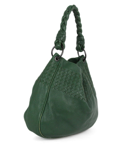 Bottega Veneta green woven leather bag 1