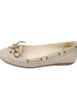 Bottega Veneta Taupe Leather Flats 2