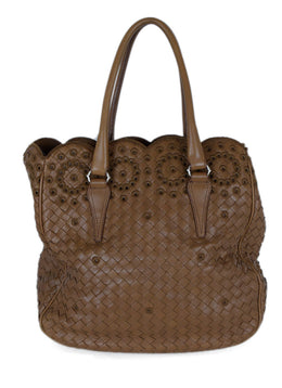 Bottega Veneta Tan Woven Leather Tan Handbag 1