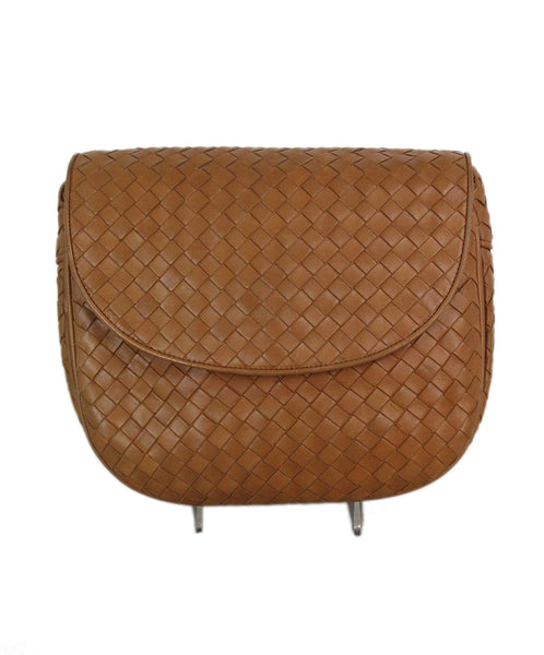 Bottega Veneta tan woven leather shoulder bag 1